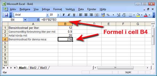 Formel i Excel